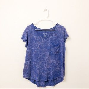 American Eagle Blue and Pink Tie-dye T-shirt M